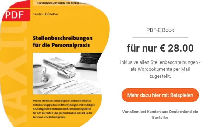 Stellenbeschreibungs PDF Banner