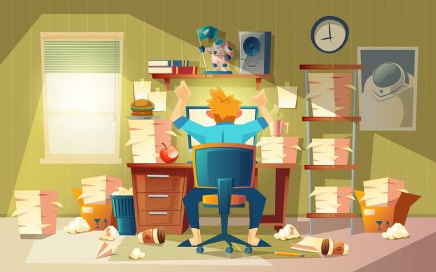 home office im chaos mit freiberufler termin konzept naehert sich der endzeit 1441 2065