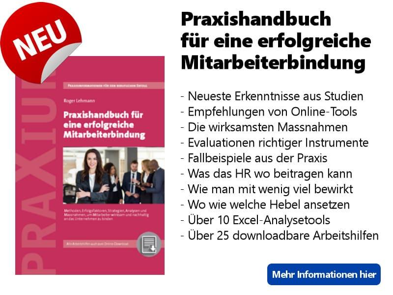 Banner Praxishandbuch Mitarbeiterbindung