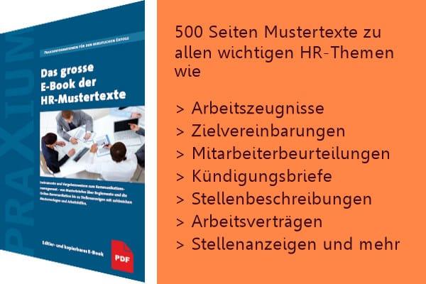 NEU: Das grosse E-Book der HR-Mustertexte