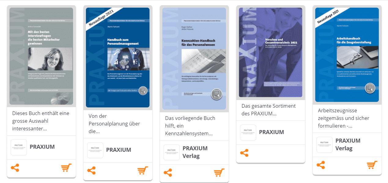 PRAXIUM Verlag Buchregal